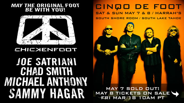 Chickenfoot May 8th Harrahs South Shore Room, South Lake Tahoe