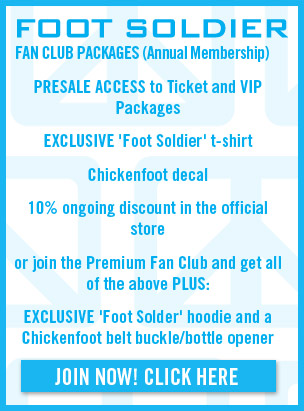 OFFICIAL FAN CLUB: presale access to tickets, VIP packages, exclusive t-shirt and 10% ongoing store discount