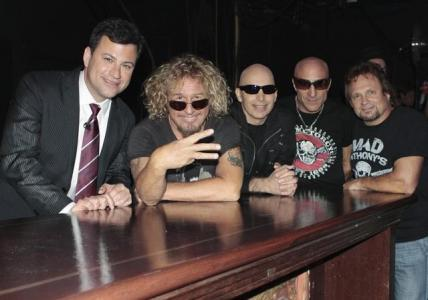 Chickenfoot with Jimmy Kimmel<br/>Photo by: Carin Baer, ABC Photo