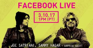 FACEBOOK LIVE Q&A WITH SAMMY, JOE SATRIANI + SURPRISE GUEST MARCH 10TH!