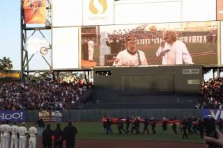 Joe & Sammy perform National Anthem @ SF Giants Game