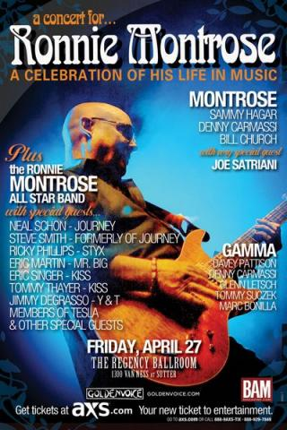 Sammy and Joe to play at Ronnie Montrose Tribute Concert 4/27