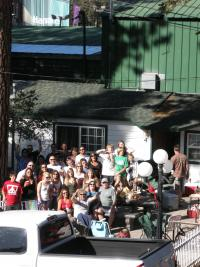 "Amador County Chickenfoot Fans took over Doc's Cottages on the stateline!  We even brought our own ""Sammy"""