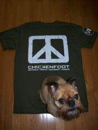 Coby loves Chickenfoot!