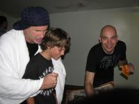 I meet this young boy out of backstage i took with me and this band make his dream come true