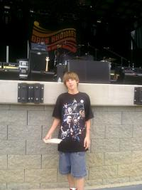 My Grandson's first concert...Chickenfoot Charlotte, NC and 2nd Mrytle Beach...A hugh Joe & Sammy fan!