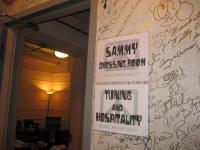 Entrance to Sammy's dressing room - backstage tour