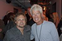 Mike Hanging out backstage with REO Speedwagon's Kevin Cronin