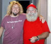 Santa Kevin and Sammy Hagar