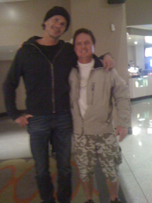 Chad Smith and me (Travis) at the Chickenfoot movie premier in Los Angeles...
