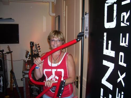 Linda lou backstage