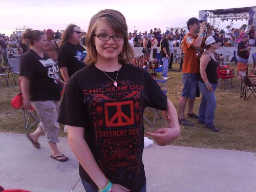 Her 1st Concert, her first shirt..Go Kit-Cat..