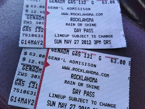 TWO TICKETS TO ROCK-N-ROLL HEAVEN