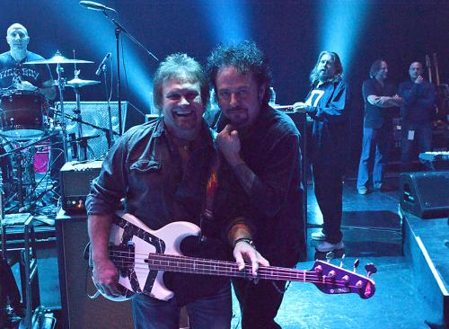 Mike with Steve Lukather who was part of the Mark & Brian Allstar Band