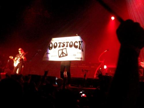 FOOTSTOCK BANNER ON STAGE!