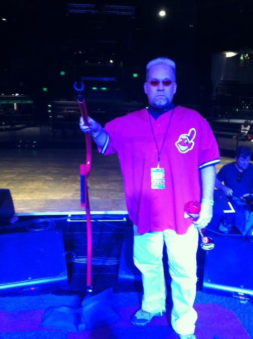 At the mic!