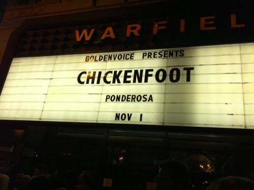 Chickenfoot Rocked the house, Satch blew up Amps