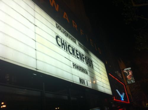 Chickenfoot Nov 1, 2011 - Warfield Marquee