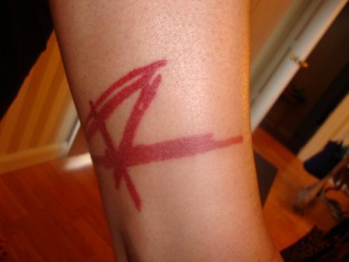 My 'R' tattoo
